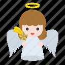 angel, christmas, meteor, star icon