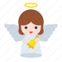 angel, bell, christ, ring icon