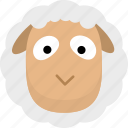animal, avatar, emotion, face, sheep icon