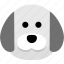 animal, avatar, dog, protection, security icon