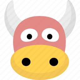 animal, avatar, cow icon