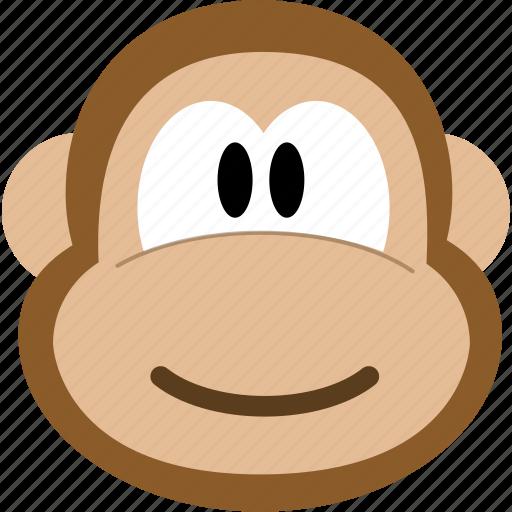 animal, avatar, emotion, face, monkey icon