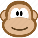 animal, avatar, emotion, monkey icon