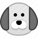animal, avatar, dog, emotion icon