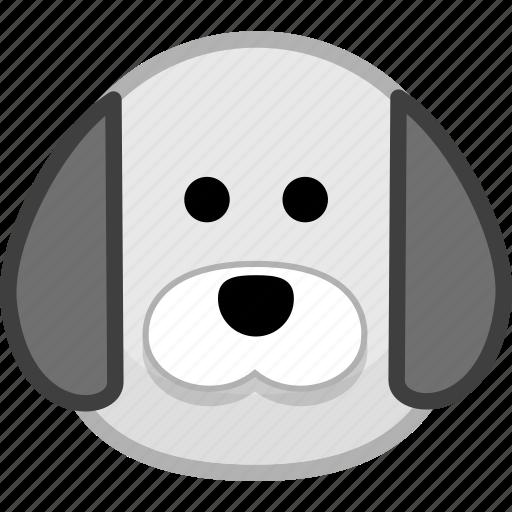 animal, avatar, dog, emotion icon