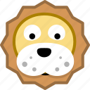 animal, avatar, emotion, lion icon