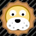 animal, avatar, emotion, lion icon