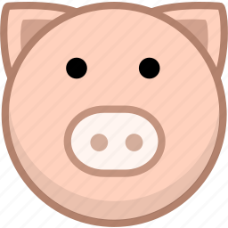 animal, avatar, emotion, pig icon