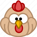 animal, avatar, chicken, emotion icon