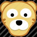 animal, avatar, emotion, tiger icon