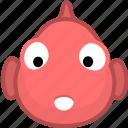 animal, avatar, emotion, fish icon