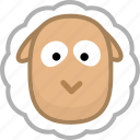 animal, avatar, emotion, sheep icon