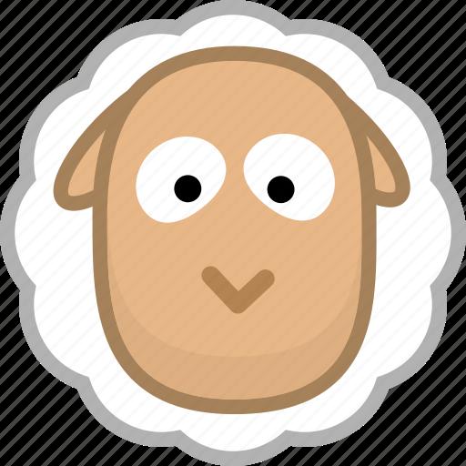 animal, avatar, emotion, sheep icon