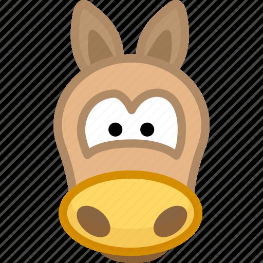 animal, avatar, emotion, horse icon