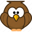 animal, avatar, bird, emotion icon