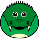 cute, head, alligator, face, crocodile, animal, croc