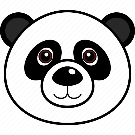 animal, cute, face, head, panda, wild icon
