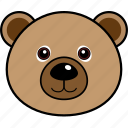 animal, bear, cute, face, head, wild icon