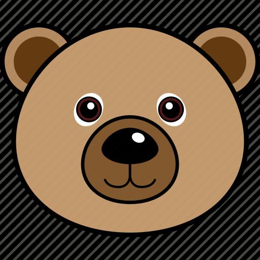 animal, bear, cute, face, head, wild icon