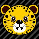 animal, cheetah, cute, face, head, leopard, wild