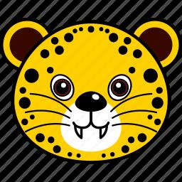 animal, cheetah, cute, face, head, leopard, wild icon