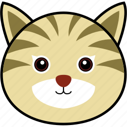 animal, cat, cute, face, head, kitten, pet icon