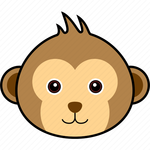 animal, chimp, chimpanzee, cute, face, head, monkey icon