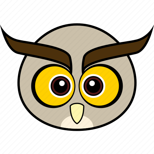 animal, bird, cute, face, head, owl, wise icon