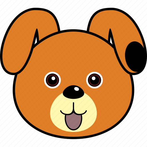 animal, cute, dog, face, head, pet, puppy icon