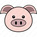 animal, cute, face, farm, head, pig, piggy