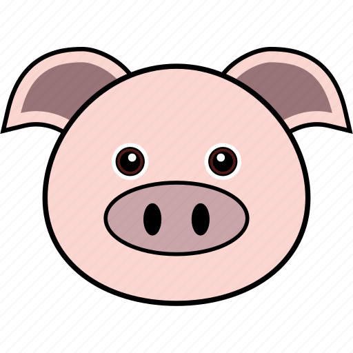 animal, cute, face, farm, head, pig, piggy icon