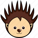 animal, cute, face, head, porcupine, wild icon