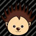 animal, cute, face, head, porcupine, wild