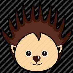 animal, cute, face, head, porcupine, wild icon