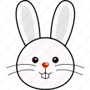 cute, head, rabbit, face, animal, easter, bunny icon