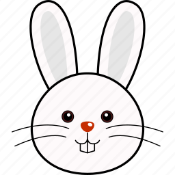 animal, bunny, cute, easter, face, head, rabbit icon