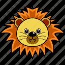 animal, cute, face, head, lion, wild