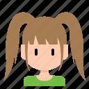 avatar, face, female, profil, user, woman