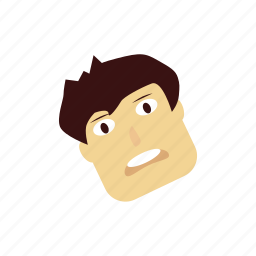 boy, cartoon, character, cute, rotate, surprise icon