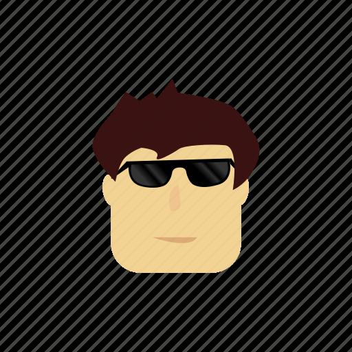 boy, cartoon, character, cute, sunglasses icon