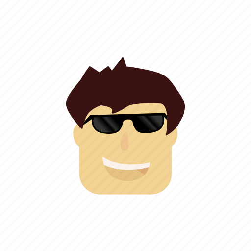 boy, cartoon, character, cute, happy, sunglasses icon