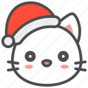 cat, christmas, cute, hat, kitten, santa, xmas icon