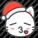 cat, christmas, hat, kitten, love, santa, xmas icon