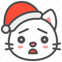 cat, christmas, hat, kitten, sad, santa, xmas