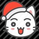 cat, christmas, hat, joy, kitten, santa, xmas