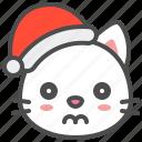 cat, christmas, doubt, hat, kitten, santa, xmas icon