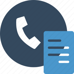 document, fax, paper, phone, sheet, telephone icon