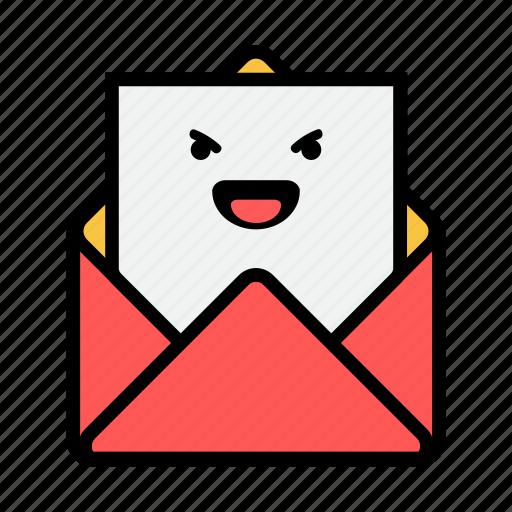 envelope, evil, letter, mail, message, news, newsletter icon