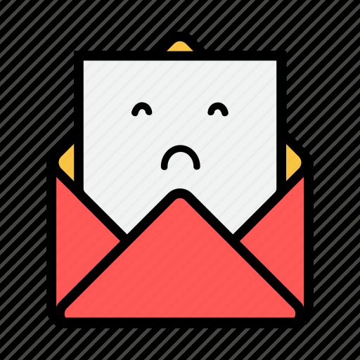 envelope, letter, mail, message, news, newsletter, upset icon