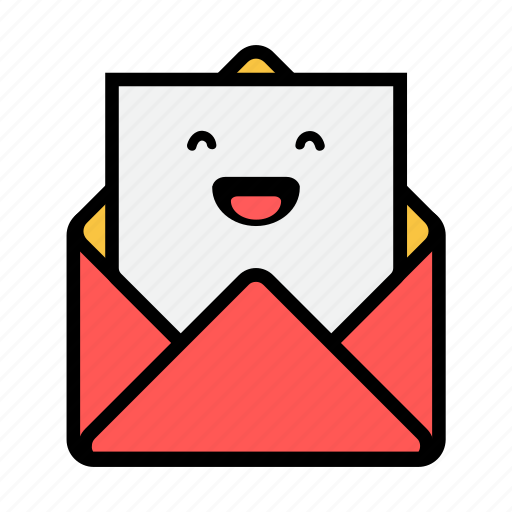 envelope, happy, letter, mail, message, news, newsletter icon